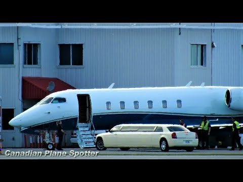 VIP Treatment! Challenger 350 Landing at Ottawa Int'l Airport