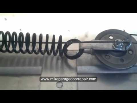 Installing Safety Cables For An Extension Spring Garage Door Youtube
