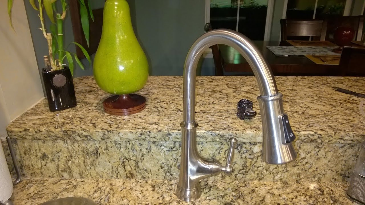 how to install glacier bay single handle kitchen faucet touchless kitchen faucet Glacier Bay Touchless Kitchen Faucet Unboxing And Installing You