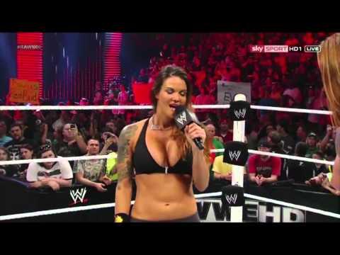 WWE RAW [23.07.2012]: Lita vs. Heath Slater. APA Return