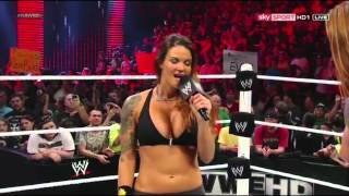WWE RAW [23.07.2012]: Lita vs. Heath Slater. APA Return