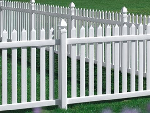 How To Install A Vinyl Picket Fence (part 1)   YouTube