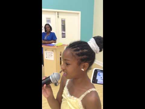 Anyiah Davis singing Take Me To the King
