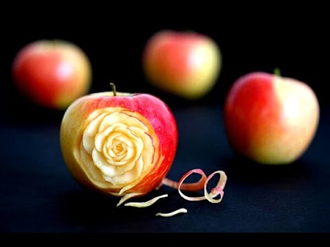 How To Make Apple Rose Valentines Day Apple Design Fruit