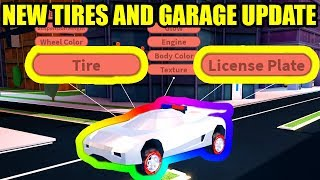 [FULL GUIDE] NEW TIRES and GARAGE UPDATE is HERE!!! | Roblox Jailbreak New Update