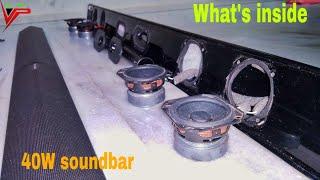 What's inside portronics sound slick 2 wireless Bluetooth sound bar