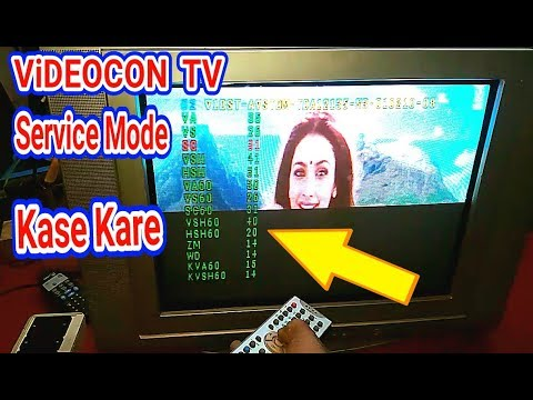 Videocon Tv Service Mode Open Code And In Service Menu setting