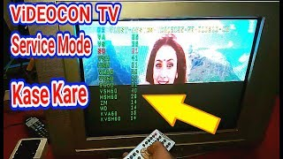 Videocon Tv  Service Mode Open Code And In  Service Menu setting.