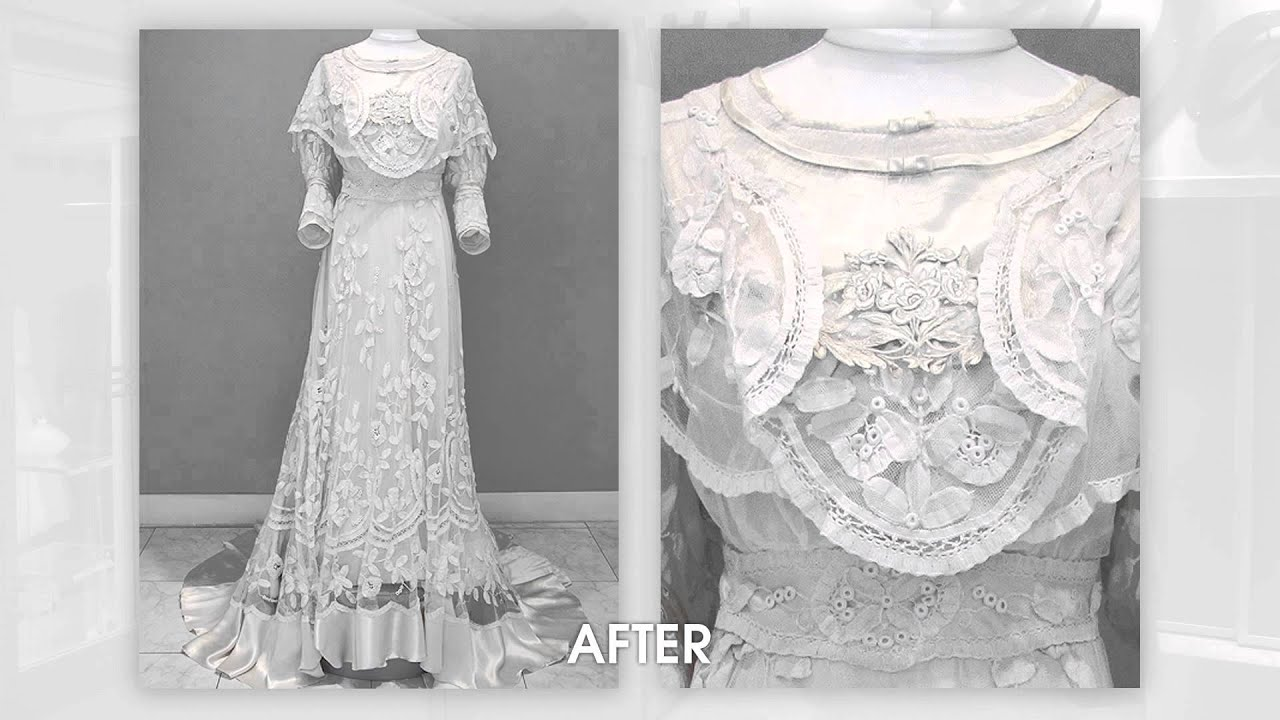 wedding dress restoration a precious vintage dress indeed a 110 year wedding 9248