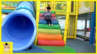 Indoor Playground Learn Colors Fun for Kids Play Family Slide Rainbow Ball Colors | MariAndKids Toys