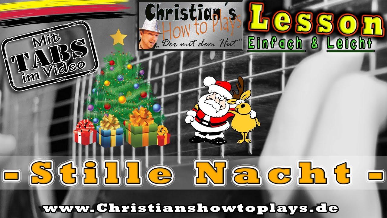 ☆STILLE NACHT Weihnachtslied Tabs Akkorde Akustik Gitarre lernen ...