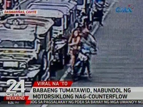 24 Oras: Babaeng tumatawid, nabundol ng motorsiklong nag-counterflow