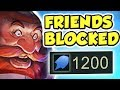 I BLOCKED MY 'FRIENDS' AFTER THIS!! PENTAKILL | 1200 AP+ 1-SHOT | NEW SKIN ARCTIC OPS GRAGAS JUNGLE