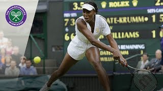 Venus Williams v Kimiko Date: Wimbledon second round, 2011 (Extended Highlights)