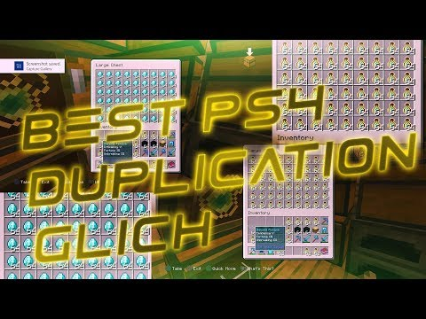 PS4 MINECRAFT DUPLICATION GLITCH *DUPLICATE ANYTHING*