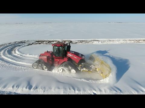 Pushing big snow with big iron - Jason LeBlanc Farm