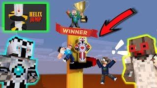 Trio Kocak Bermain Lompatan Neraka - Helix Jump Challenge Animation