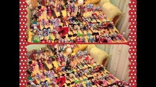 подробный обзор моей коллекции кукол monster high 150 кукол юбилей