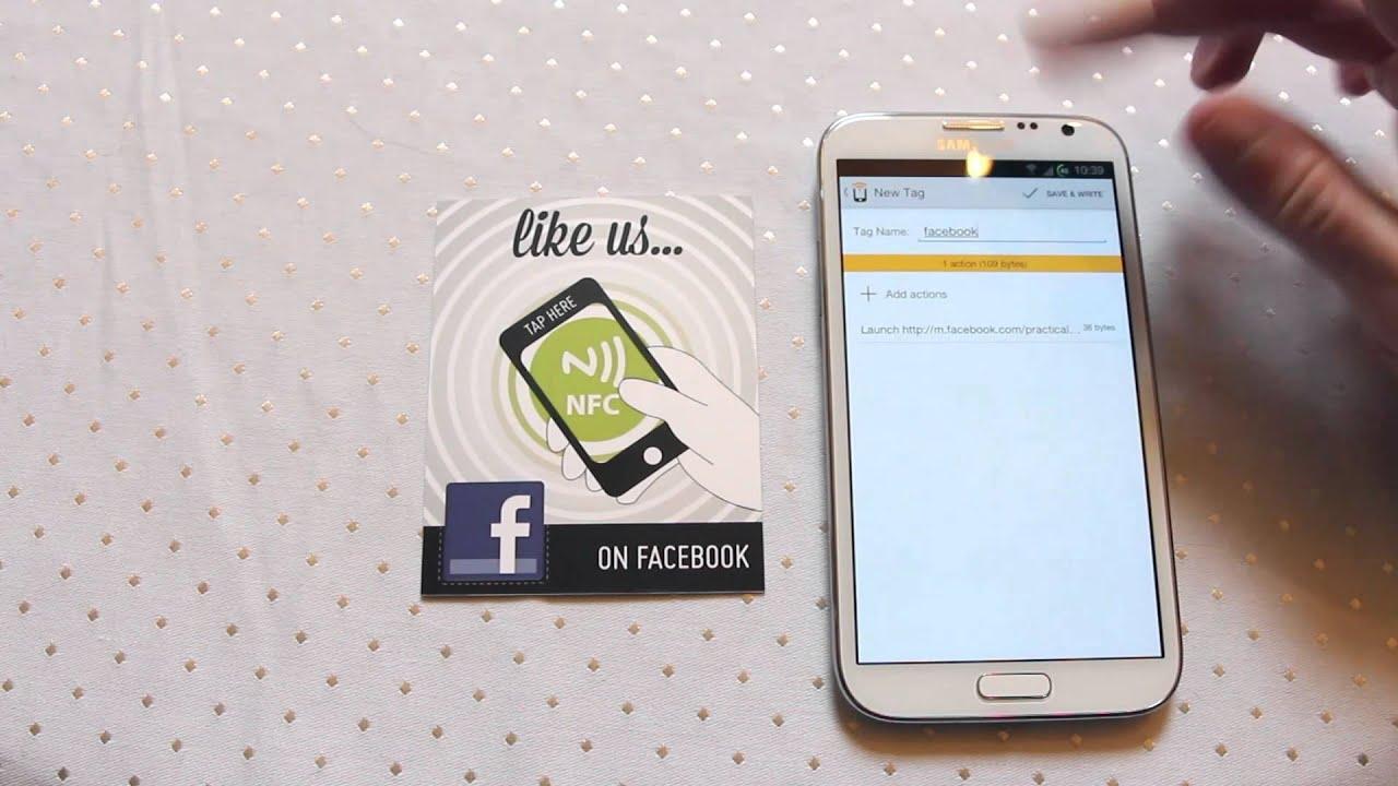 三星note3 nfc_NFC Facebook Like How to guide Near Field Communication - Practical NFC Galaxy Note 2 ...