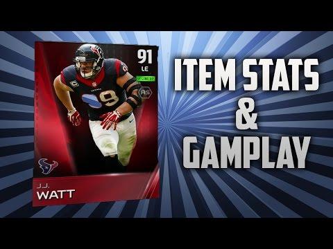"Madden 15 MUT ""Elite JJ Watt"" Gameplay And Item Stats"