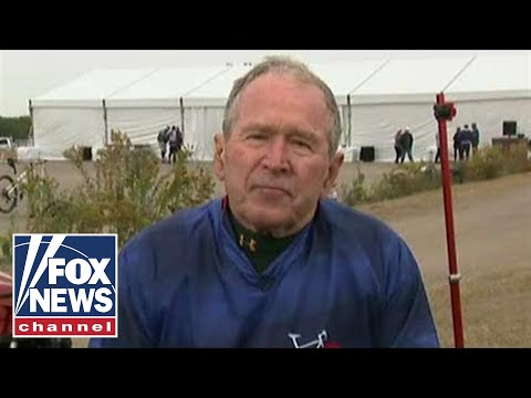 President George W. Bush goes one-on-one with Dana Perino