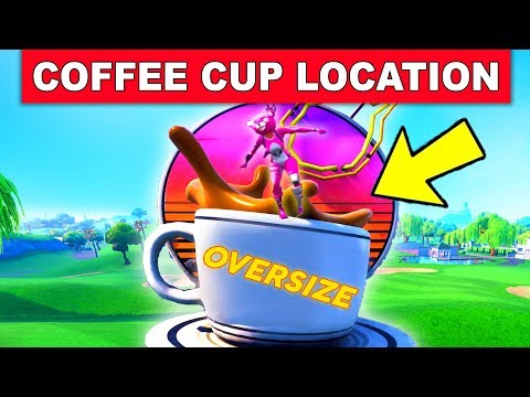 """""""Dance on top of an OVERSIZED CUP OF COFFEE"""" – LOCATION WEEK 9 CHALLENGES FORTNITE SEASON 7"""