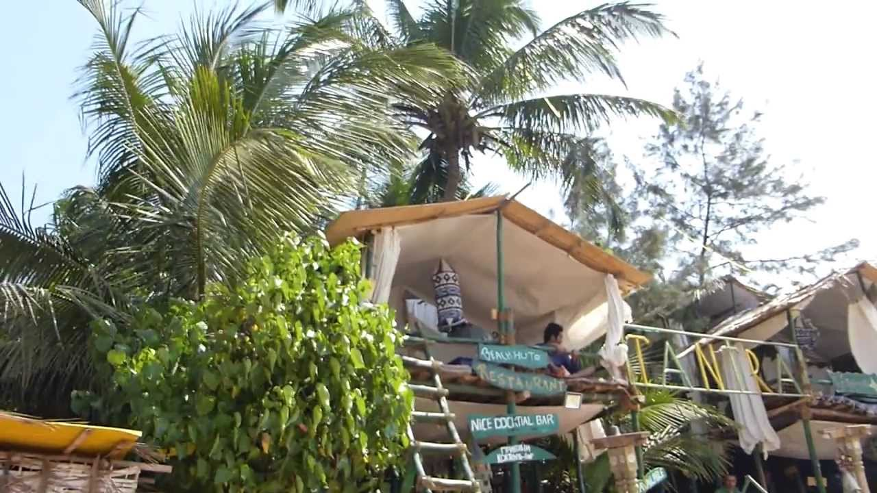 Tantra Shack Huts Anjuna Beach Goa India 2017 Hd 1080 ГОА You