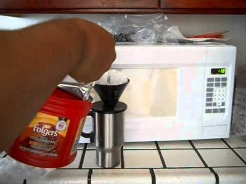 How to make coffee in a microwave