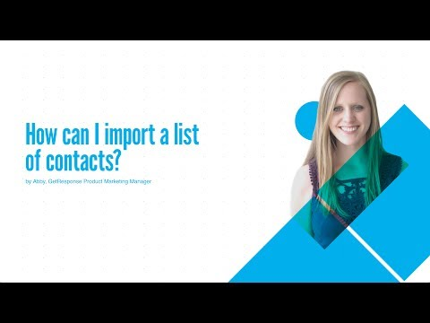 How can I import a list of contacts?