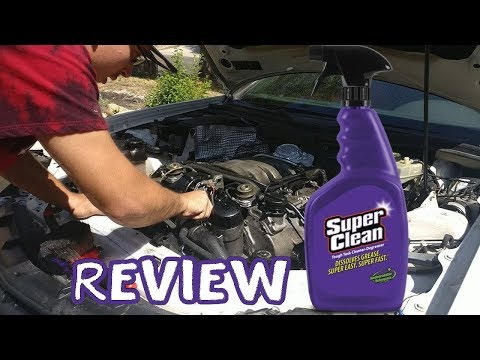 Review: Super Clean Degreaser Cleaning Engine Bay