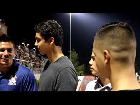 Mater Dei Catholic High School (wrestlers supporting football)