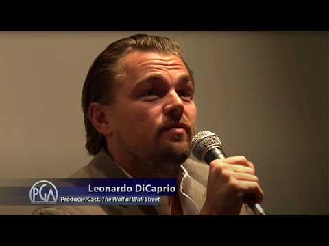 Leonardo DiCaprio on Jonah Hill for The Wolf of Wall Street
