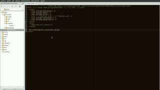 Zen HTML con Gedit