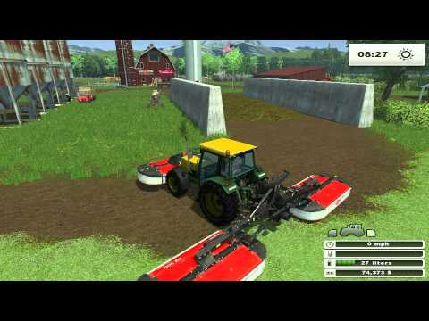 FARM SIM SATURDAY Baling hay with the John deere round baler