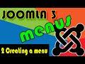 Joomla 3 Tutorials: Create a Menu and display it