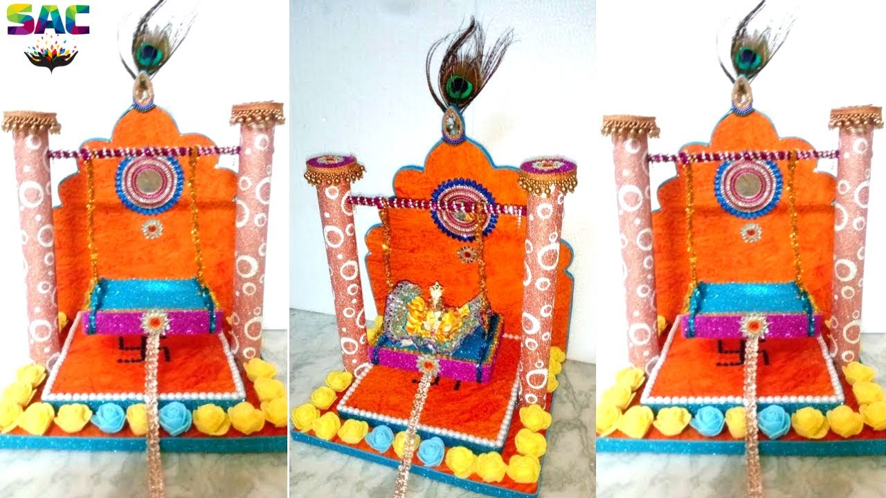 How To Make Jhula For Bal Gopal At Home Krishna Swing