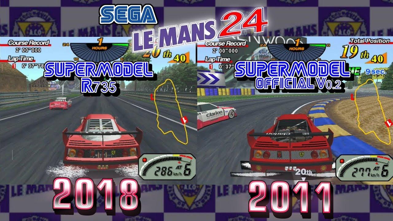 Le Mans 24 - Supermodel r735 (2018) Vs Supermodel v0 2 (2011)
