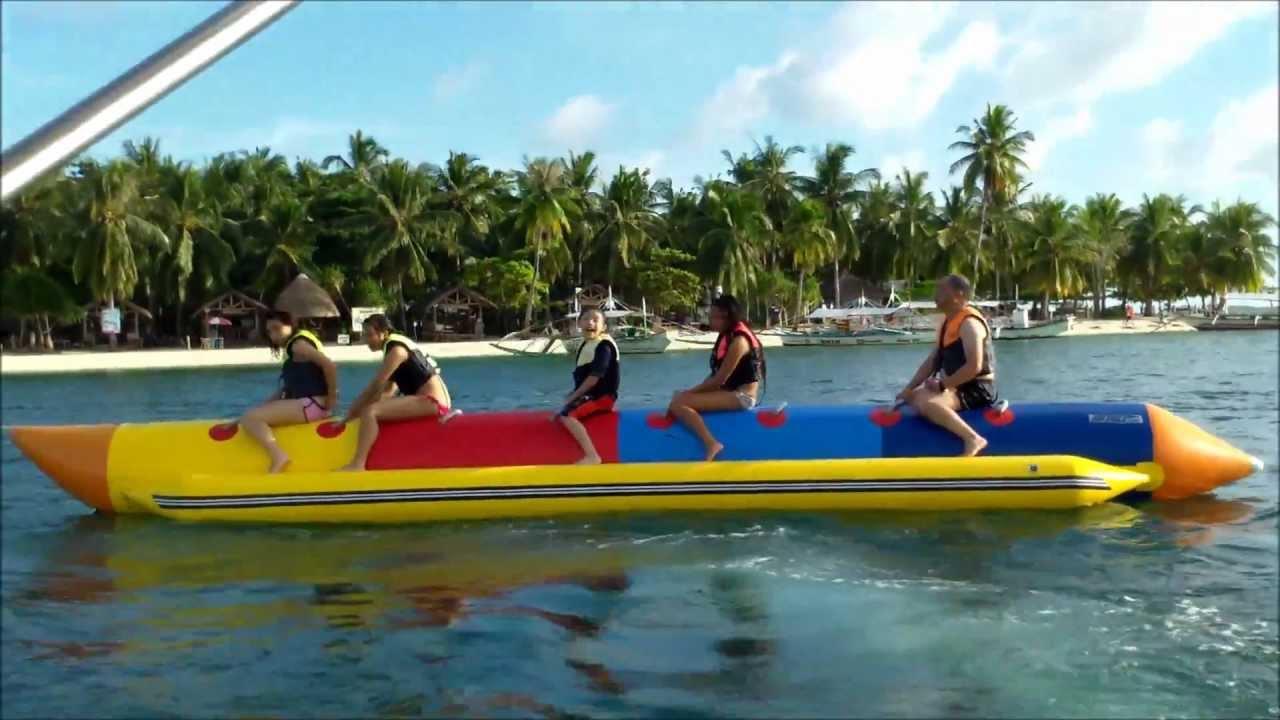 Banana Boat Ride at Isla Pandan Day Resort, Pandan Island ...