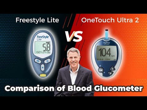 Comparison of blood glucometers: Freestyle Lite vs Onetouch Ultra 2