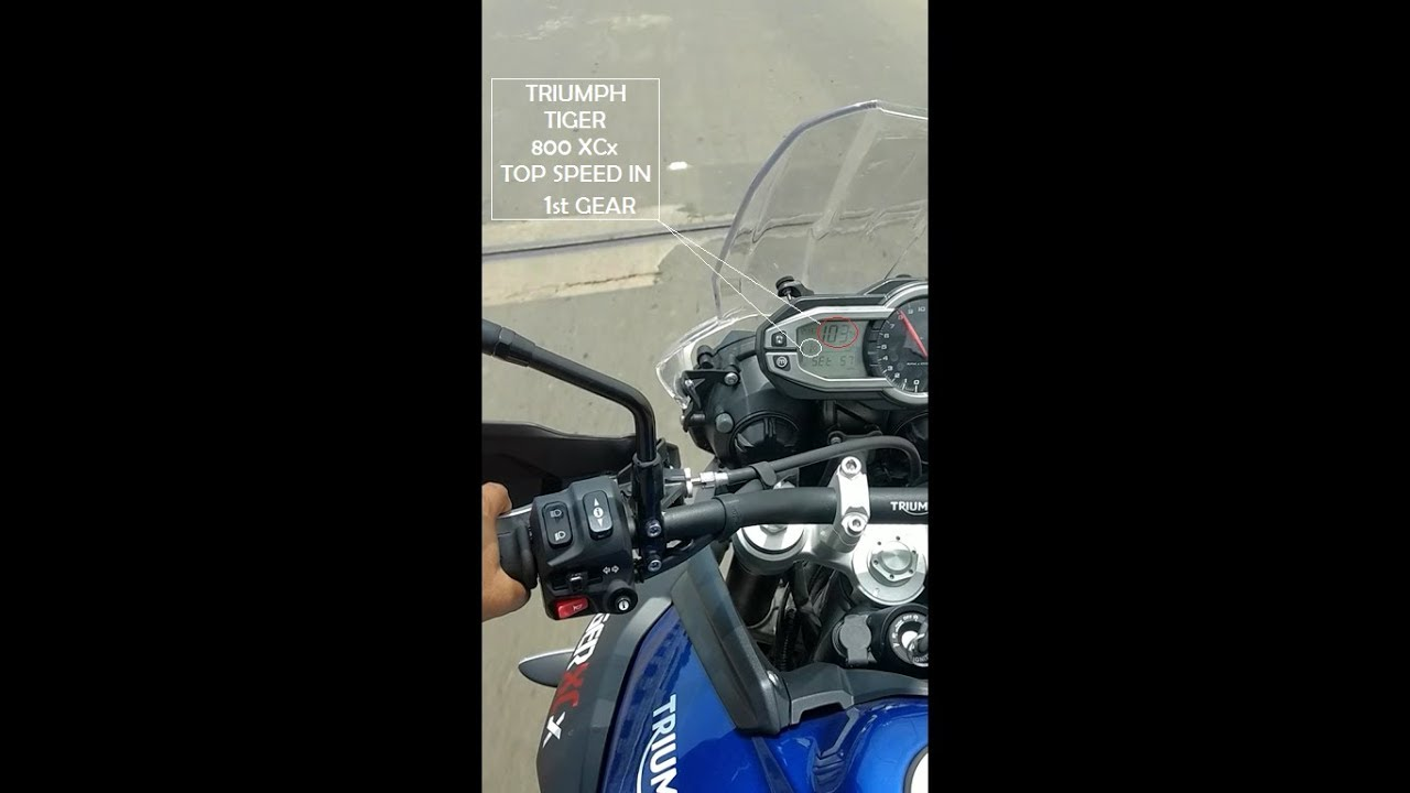 Triumph Tiger 800 Xcx 0 100 Acceleration In 1st Gear Youtube