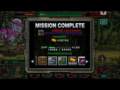 [HD]Metal slug ATTACK. GUILD OPS!  100 MILLION DAMAGE RECORD  !!! (2.7.0 ver)