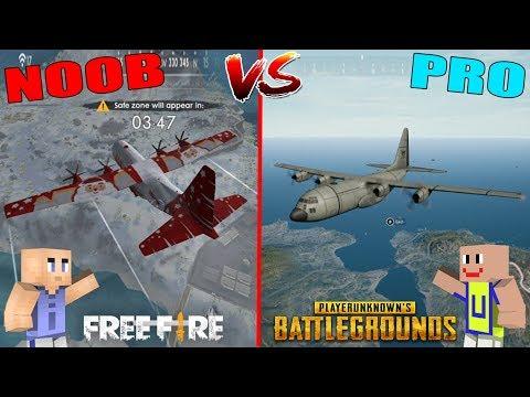 MINECRAFT: NOOB VS PRO - Pesawat Free Fire VS Pesawat PUBG