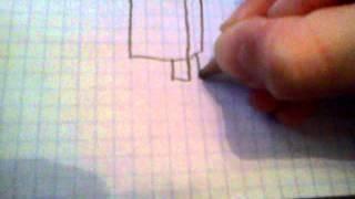 Sådan tegner du minecraft figure. Ep. 1 creeper