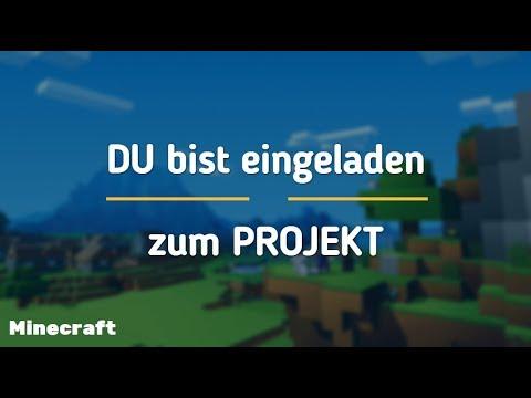 DU BIST EINGELADEN ZUM MINECRAFT PROJEKT | TheLennart1001