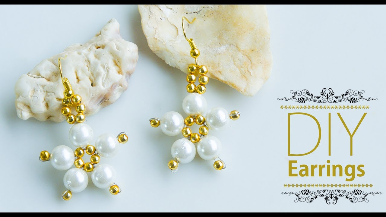 Diy Easy And Quick Pearl Earrings How To Make Earrings