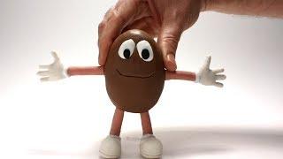 M&M clay cartoon  💕 Superhero Play Doh Stop motion