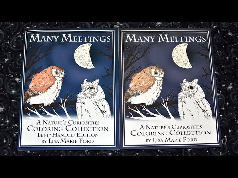 Wildlife Coloring Book Preview - Many Meetings: A Nature's Curiosities Coloring Collection