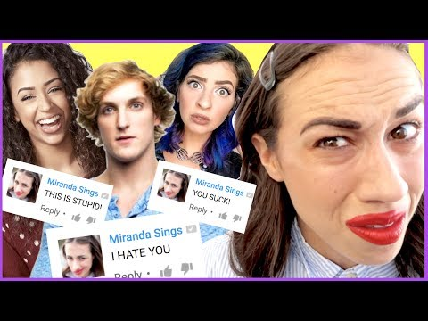 LEAVING HATE COMMENTS FOR FAMOUS YOUTUBERS