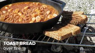 Campfire beans and toast