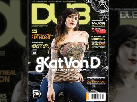 Check out Kat Von D's sinister Cadillac CTS and Mercedes Benz CLS in the
